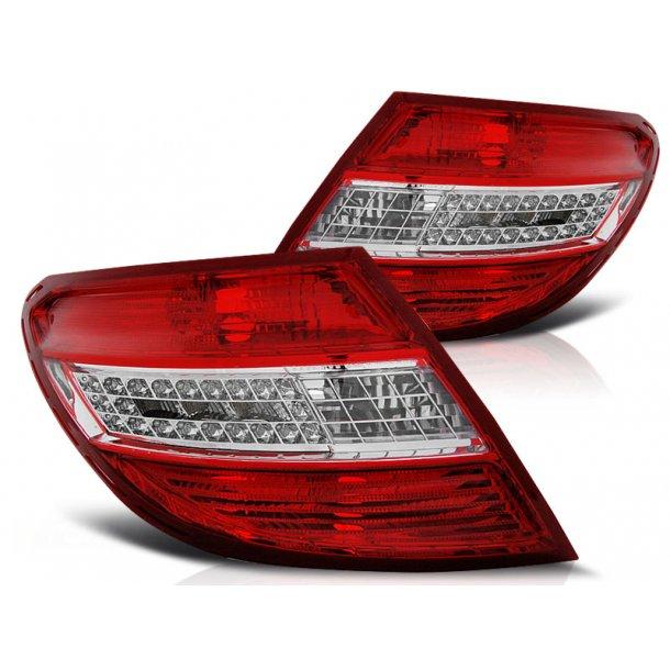 Baklykter MERCEDES C-KLASSE W204 SEDAN 07-10 RED WHITE LED