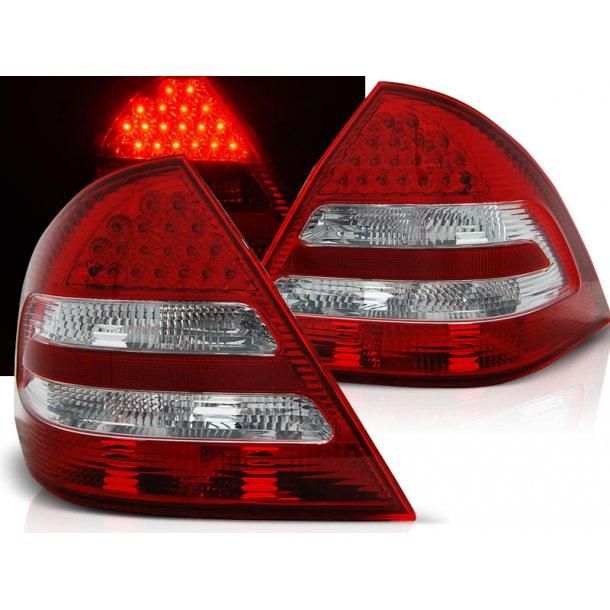 Baklykter MERCEDES C-KLASSE W203 SEDAN 04-07 RED WHITE LED