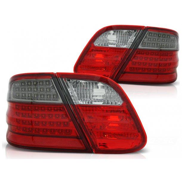 Baklykter MERCEDES CLK W208 03.97-04.02 RED SMOKE LED