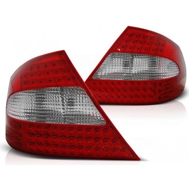 Baklykter MERCEDES CLK W209 03-10 RED WHITE LED