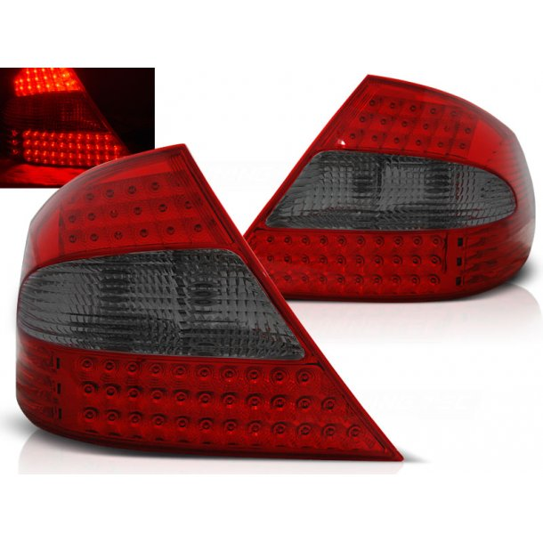 Baklykter MERCEDES CLK W209 03-10 RED SMOKE LED