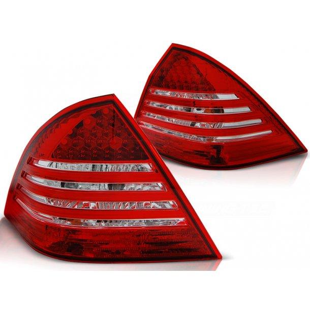 Baklykter MERCEDES C-KLASSE W203 SEDAN 00-04 RED WHITE LED