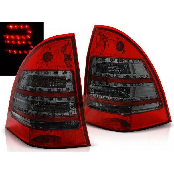 Baklykter MERCEDES C-KLASSE W203 ST.VOGN 00-07 RED SMOKE LED