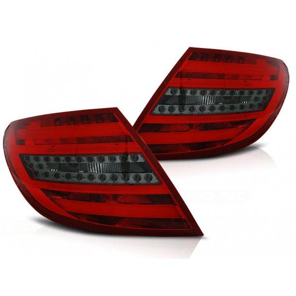 Baklykter MERCEDES C-KLASSE W204 SEDAN 07-10 RED SMOKE LED BAR/BULBS