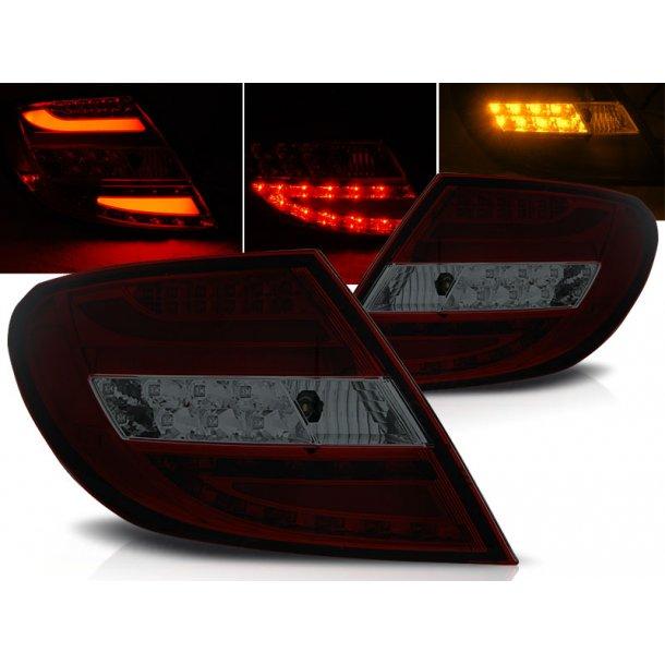 Baklykter MERCEDES C-KLASSE W204 SEDAN 07-10 RED SMOKE LED BAR LIMOUSINE