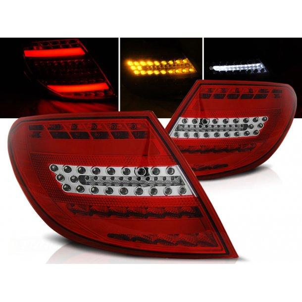 Baklykter MERCEDES C-KLASSE W204 SEDAN 07-10 RED WHITE FULL LED BAR