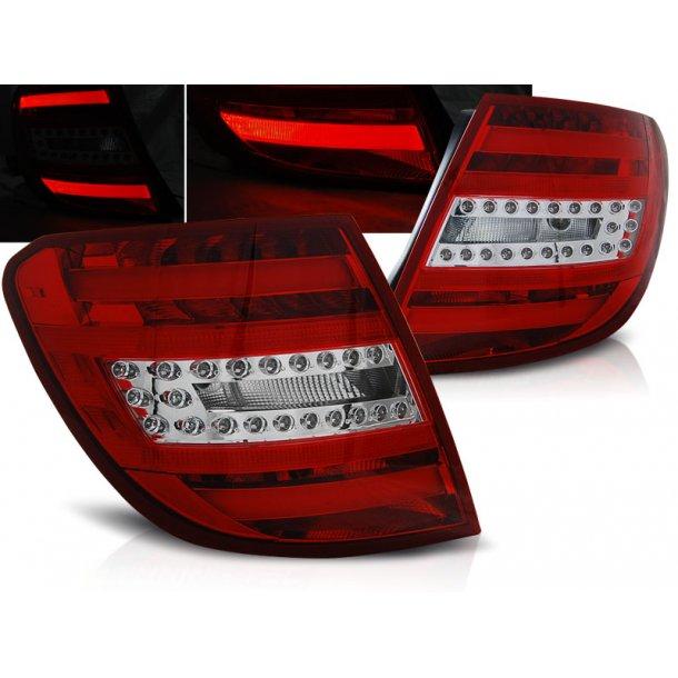 Baklykter MERCEDES C-KLASSE W204 ST.VOGN 07-10 RED WHITE LED BAR