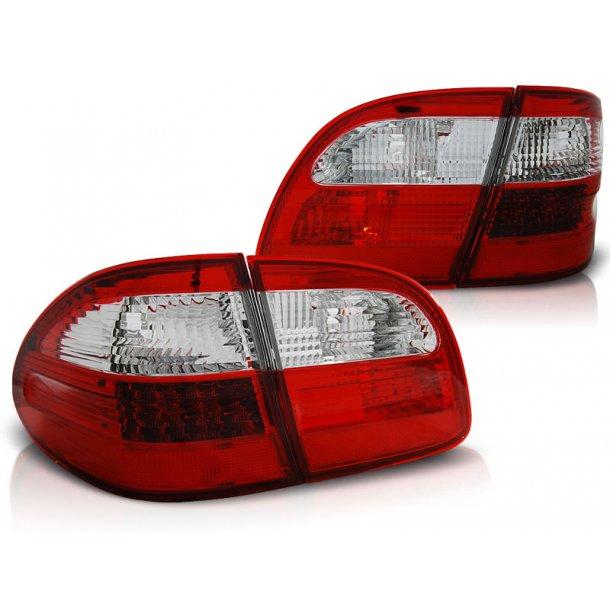 Baklykter MERCEDES W211 ST.VOGN E-KLASSE 02-06 RED WHITE LED