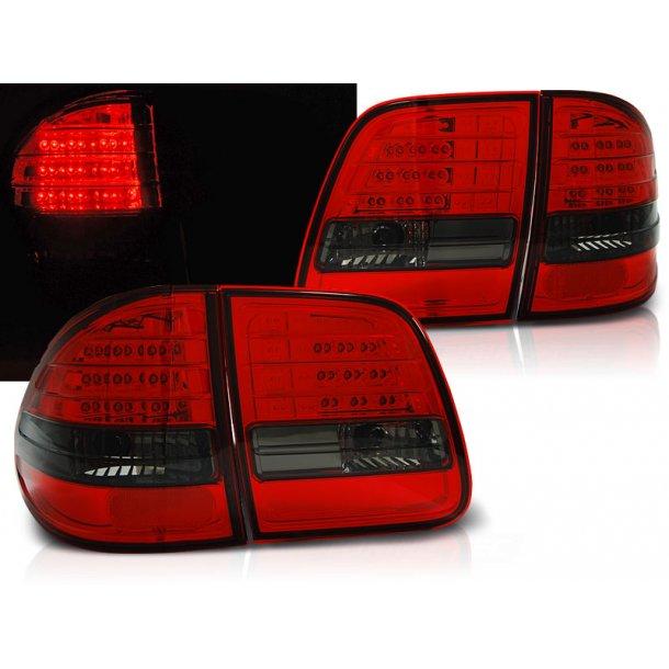 Baklykter MERCEDES W210 95-03.02 ST.VOGN R-S Red/Black LED