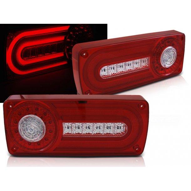 Baklykter MERCEDES W463 G-KLASSE 90-12 RED WHITE LED BAR