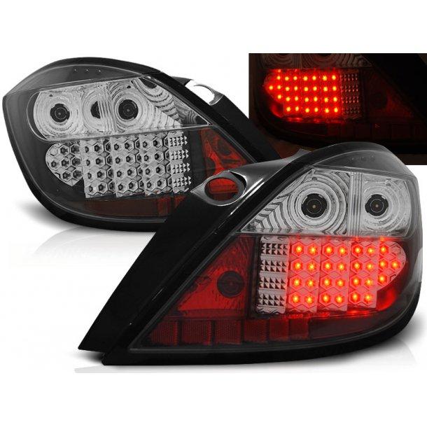 Baklykter OPEL ASTRA  H 03.04-09 5D BLACK LED