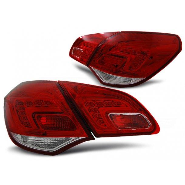 Baklykter OPEL ASTRA J 10- HATCHBACK RED WHITE LED