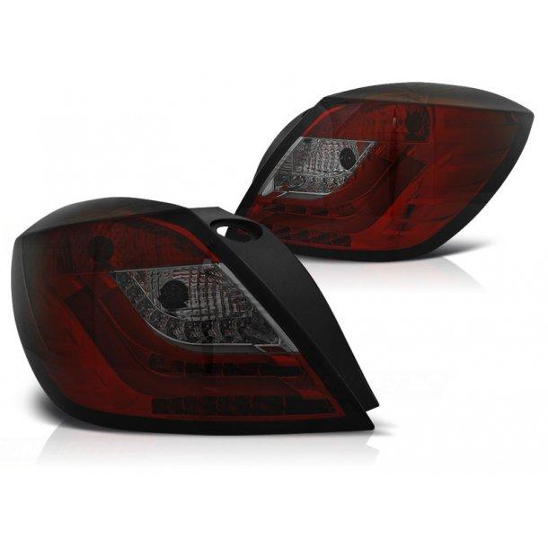 Baklykter OPEL ASTRA H 03.04-09 3D GTC RED SMOKE LED