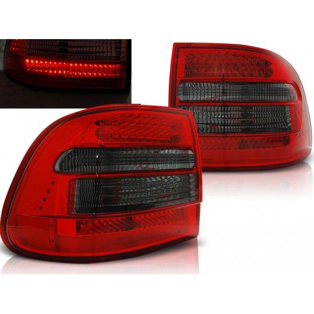 Baklykter Red Smoke Led Porsche Cayenne 02-06