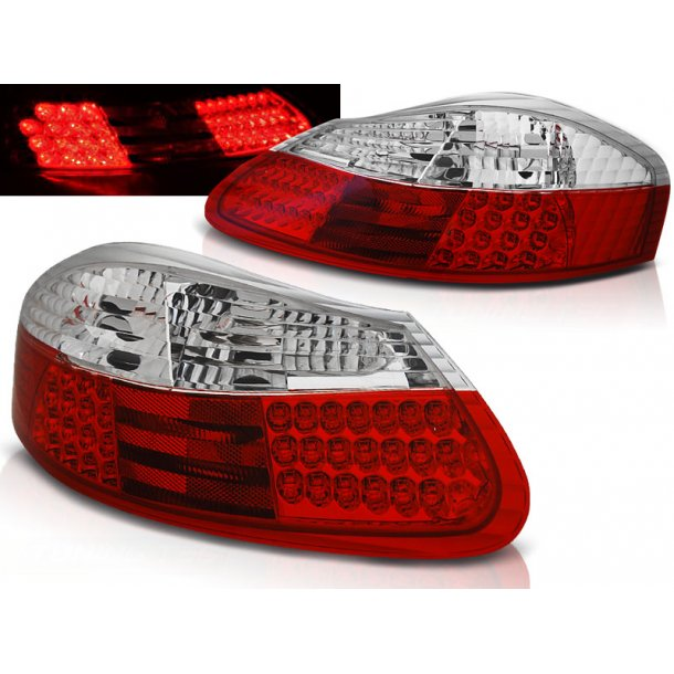 Baklykter PORSCHE BOXSTER 96-04 RED WHITE LED
