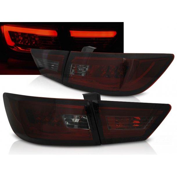 Baklykter RENAULT CLIO IV 13- HATCHBACK LED BAR RED SMOKE
