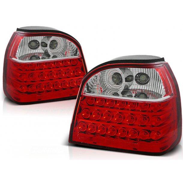 Baklykter VW GOLF 3 09.91-08.97 RED WHITE LED  HATCHBACK CABRIO