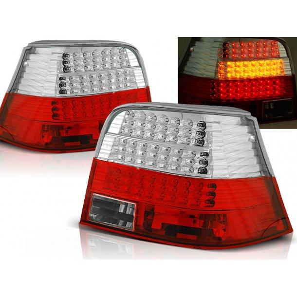 Baklykter VW GOLF 4 09.97-09.03 RED WHITE LED