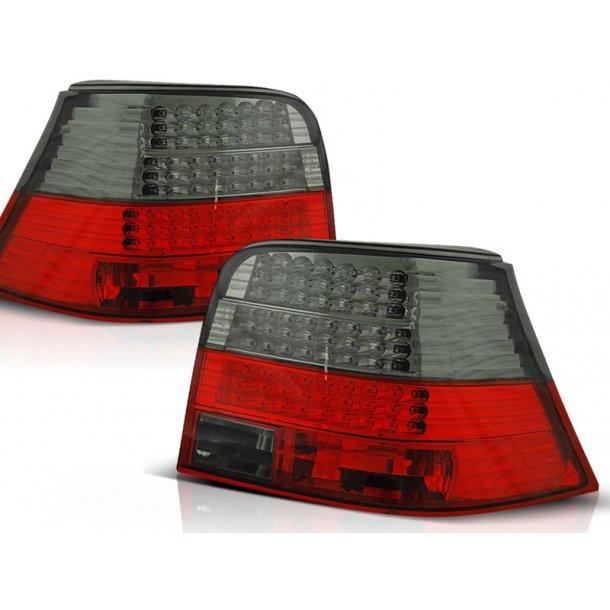 Baklykter VW GOLF 4 09.97-09.03 RED SMOKE LED