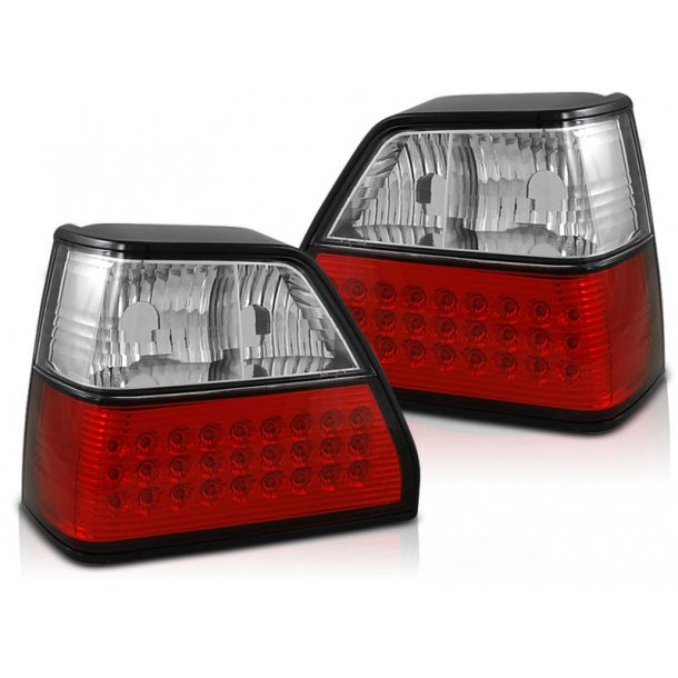 Baklykter VW GOLF 2 08.83-08.91 RED WHITE LED