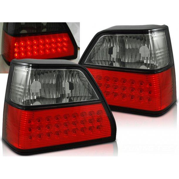 Baklykter VW GOLF 2 08.83-08.91 RED SMOKE LED