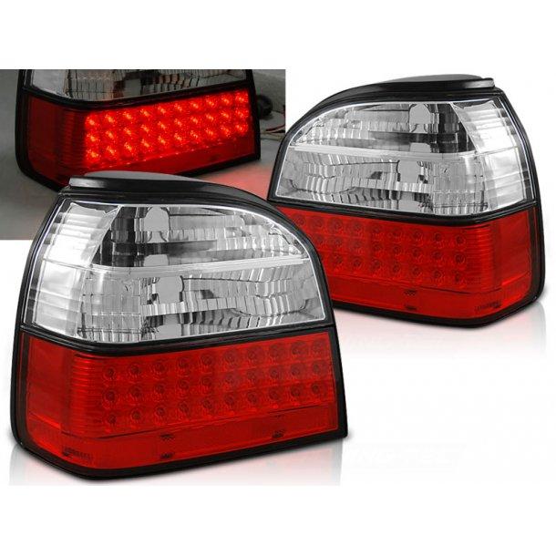 Baklykter VW GOLF 3 09.91-08.97 RED WHITE LED