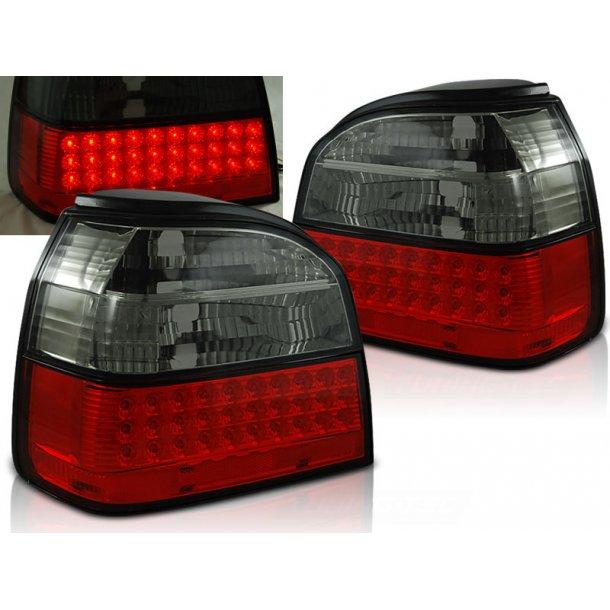 Baklykter VW GOLF 3 09.91-08.97 HATCHBACK CABRIO RED SMOKE LED