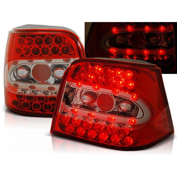 Baklykter VW GOLF 4 09.97-09.03 HATCHBACK RED WHITE LED