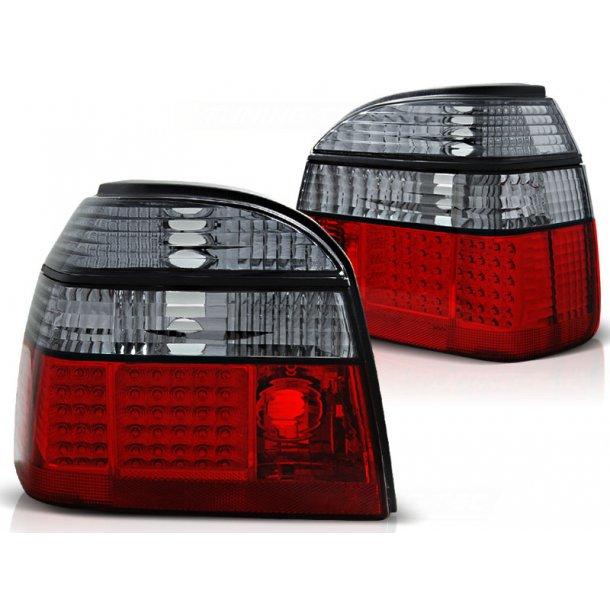 Baklykter VW GOLF 3 09.91-08.97 RED SMOKE LED