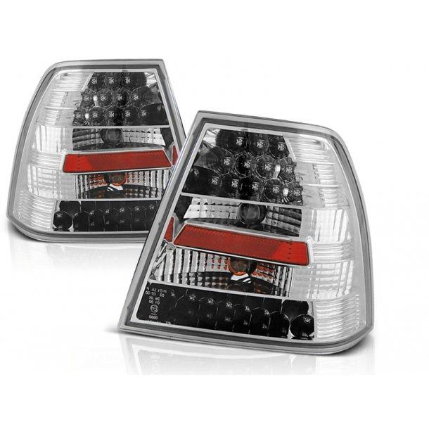 Baklykter VW BORA 09.98-07.05 CHROME LED