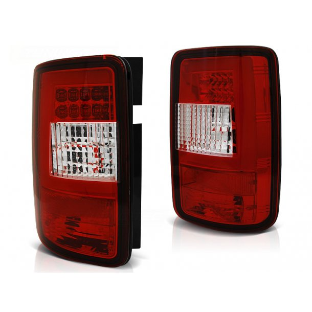 Baklykter VW CADDY 03-03.14 RED WHITE LED BAR
