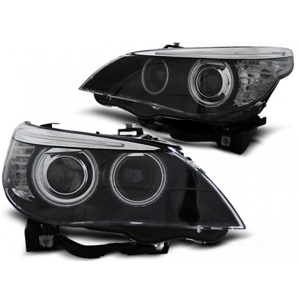 Frontlykter BMW E60/E61 05-07 BLACK