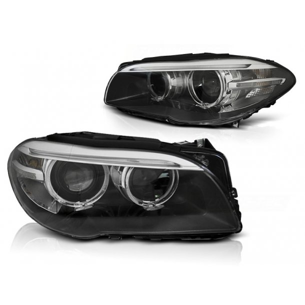 Frontlykter BMW F10,F11 10-07.13 AE LED BLACK DRL