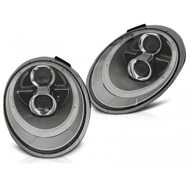 Frontlykter PORSCHE 911 (997) 04-09 Sølv XENON