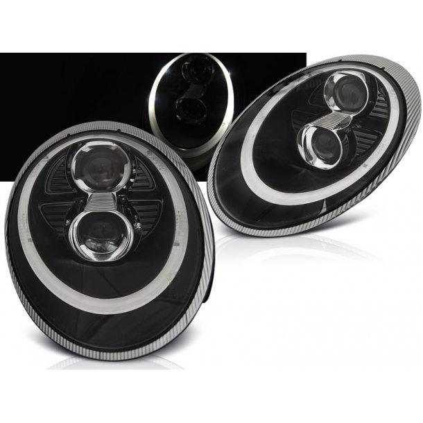 Frontlykter PORSCHE 911 (997) 04-09 BLACK XENON