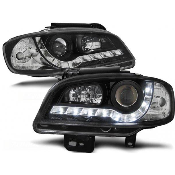 Frontlykter SEAT IBIZA/CORDOBA 09.99-03.02 BLACK LED