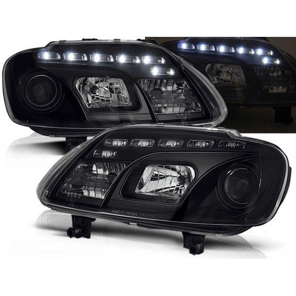 Frontlykter VW TOURAN 02.03-10.06 / CADDY BLACK LED