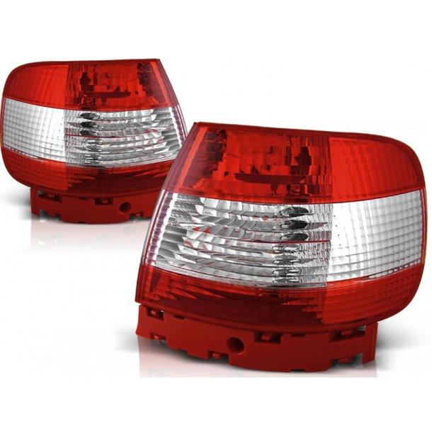 Baklykter AUDI A4 11.94-09.00 RED WHITE