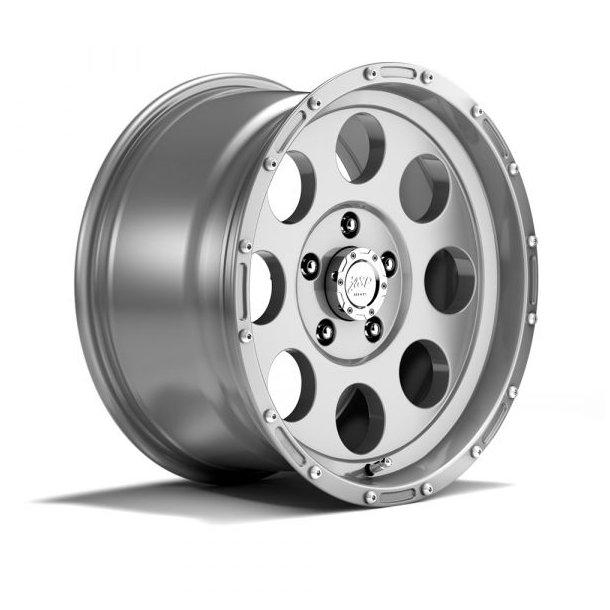 Felger ASP 1422 9x17 5x127 ET+16 silver -TÜV-godkjent
